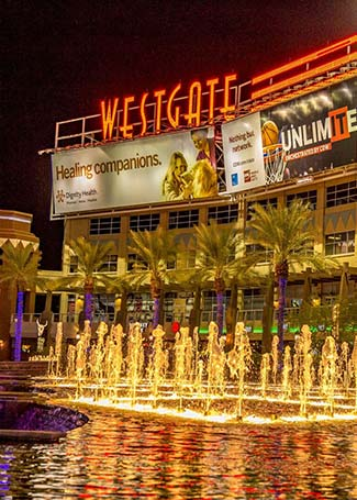 Westgate Night Time Fountain-View
